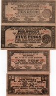 LOTTO 0,50,1,5,10 PESOS-PHILIPPINES-BOHOL EMERGENCY CURRENCY BOARD-1942- AUNC-UNC - Filippine