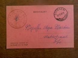 Brief Kaart  Rood Kruis Van Belgie    Afdeling  Sottegem - Rode Kruis