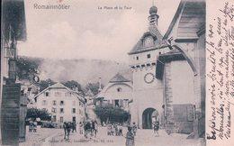 Romainmôtier, La Place, Attelage (4.1.1903) - VD Vaud