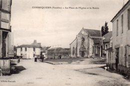 Commequiers : La Place De L'église Et La Mairie - France