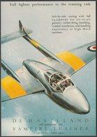 Advertising - De Havilland Vampire Trainer - Vintage Ad Gallery Postcard - 1946-....: Modern Era