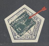 Netherlands Olympic Handcancel With N3 With ERROR 7 Instead Of A V For Month On Olympic Rowing Stamp. - Summer 1928: Amsterdam