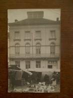 Oude Fotokaart Met Markttafereel - Photos