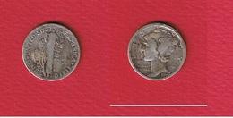 USA  -  Dime 1923 -  Km # 140  - état  TB - 1916-1945: Mercury (kwik)