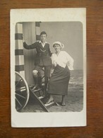 Oude Foto Kaart  Ostende - Automobiles