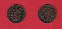 Luxembourg  -  2 - 1/2 Centimes  1901  -  Km # 21  - état  TTB - Luxembourg