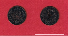 Luxembourg  -  2 - 1/2 Centimes  1854  -  Km # 21  - état  TB - Luxembourg