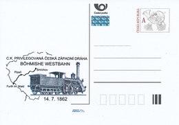 Rep. Ceca / Cart. Postali (Pre2012/37) Ferrovie Occidentali Ceche (1862) Smichov (Praga) - Pilsen - Furth Im Wald - Fabbriche E Imprese