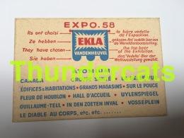 CPSM EXPO 58 EKLA VANDENHEUVEL SOUS BOCK BIERKAART ATOMIUM EXPOSITION BRUXELLES 1958 - Expositions