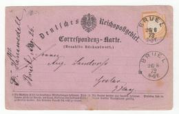 Deustche Reichspostgebiet Correspondenz-Karte (Bezahlte Rückantwort) Reply Card Travelled 1873 B180901 - Brieven En Documenten