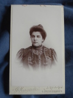 Photo CDV  Marquette à Dunkerque  Portrait Femme Portant Une Belle Robe (Stéphanie) - CA 1895 - L389H - Photographs