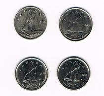 =&    CANADA  4 X 10  CENTS 1968/79/88/2004 - Canada