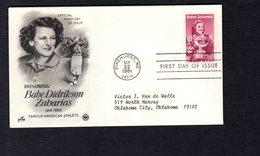USA 1981  FDC SCOTT 1932 BABE ZAHARIAS - Etats-Unis