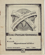 """Paix Pasteur Bouddha Wilson Cahier D'école Primaire """"Aimez-vous Les Uns Les Autres"""" (vers 1935) - Autres"""