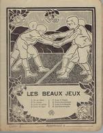 """Loup Berger Cahier D'école Primaire """"Les Beaux Jeux"""" (vers 1935) - Buvards, Protège-cahiers Illustrés"""
