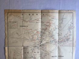 RARE ANTIQUE MAP OF FAR EAST ASIATIC MAP COOK & SON W/ A LOT OF ASIATIC ADVERTISING TOURISME BROCHURE 30'S - Autres