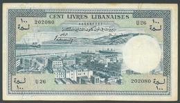 Lebanon 1963 Banknote 100 Liras - Rare - Lebanon