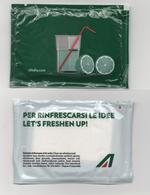 Alt1065 Salvietta Rinfrescante Towel Alitalia Airways Compagnia Aerea Merchandising Volo Flight Avio Aereo - Materiale Promozionale