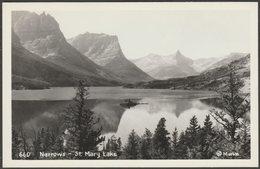 Narrows, St Mary Lake, Montana, C.1950s - Marble RPPC - United States