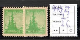 SBZ - Thüringen, **, BPP-geprüft: 94 AY Ay1,by - Sowjetische Zone (SBZ)