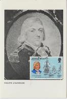 Jersey Carte Maximum 1976 Bicentenaire Des Etats Unis 140 - Jersey