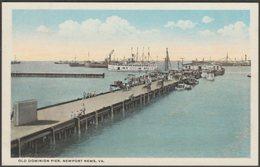 Old Dominion Pier, Newport News, Virginia, 1917 - Louis Kaufmann Postcard - Newport News
