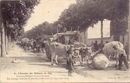 CP - Guerre 1914 - 1918 - L'invasion Des Barbares - Convois D'émigrés - 3 Sept 1914 - Histoire