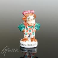 Feve Oui Oui Le Singe Mme Ouistiti 1996 Miniature Porcelaine - Cartoons