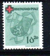 Rhénanie Palatine   /  N 38 / 10  20 P Vert  / NEUF ** - Zone Française