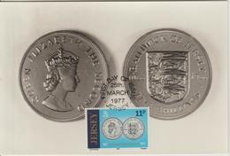Jersey Carte Maximum 1977 Reforme Monétaire 156 - Jersey