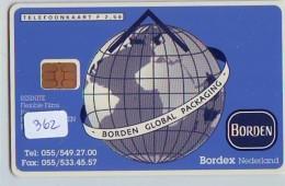 NEDERLAND CHIP TELEFOONKAART CRD-362 *  GLOBE  *  Telecarte A PUCE PAYS-BAS ONGEBRUIKT  MINT - Espace