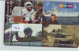 NEDERLAND CHIP TELEFOONKAART CRD-366 * WARSHIP * TANK * ARMEE *  Telecarte A PUCE PAYS-BAS ONGEBRUIKT  MINT - Leger