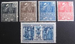 FD/2254 - 1930 - EXPO COLONIALE - N°270 à 274 NEUFS*  ☛☛☛ PRIX DE DEPART A MOINS DE 15% DE LA COTE CATALOGUE - France
