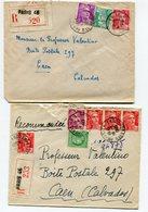 PARIS 46 Rue Des Goncourt 2 Env. Recom. De  1948  1949  Avec Dateur  A 6 - Postmark Collection (Covers)