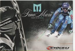 Fre422 Freecard Promotional Sci Ski Tina Maze World Champion Stockli Team Slovenia - Winter Sports