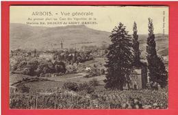 ARBOIS 1926 VIGNOBLES DE LA MAISON DEJEAN DE SAINT MARCEL CARTE AUTOGRAPHE DU PROPRIETAIRE CARTE EN BON ETAT - Arbois