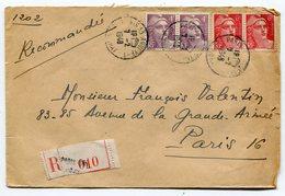 PARIS 53 Rue Annexe 1   Env. Recom. De   1948 Avec Dateur  A 6 - Marcophilie (Lettres)