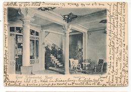 SCHWEIZ  - Hotel Schweizerhof Basel - VESTIBULE - 1900 Carte Postale Sent From STRASSBURG To CHARLOTTENBURG - - Other