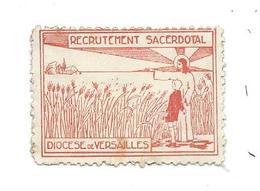 ERINNOPHILIE.. TIMBRE Recrutement Sacerdotal, Diocèse De VERSAILLES (78), VIGNETTE RELIGION...2 Scans - Erinnofilie