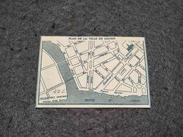 """ANTIQUE  SMALL MAP VIETNAME """" PLAN DE LA VILLE DE SAIGON """" BROCHURE FRAGMENT 30'S - Cartes"""