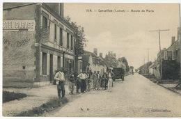 Cercottes Route De Paris  Edit J. Guittard Pompe à Essence Station Service  Hotel De La Foret - France