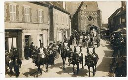 Cerdon Carte Photo Fete Defilé Hussard  Photo Marchand Sully - France