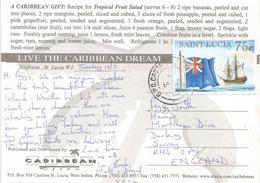 St Lucia 2004 Castries Frigate Brig Ship Viewcard - St.Lucia (1979-...)