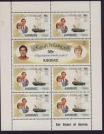 KIRIBATI 1981 MARIAGE CHARLES ET DIANA-BATEAUX  FEUILLET  YVERT  N°50/55  NEUF MNH** - Kiribati (1979-...)