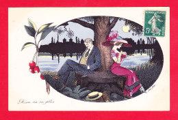 Illust-1935Ph67 S. SAGER   Rien Ne Va Plus, Couple Qui Boude, Cpa BE - Sager, Xavier