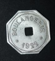 """Jeton De Nécessité """"Boulangerie 1922 Coopérative Des Employés & Ouvriers Des Mines De Liévin"""" Jeton De Mine - Professionnels / De Société"""