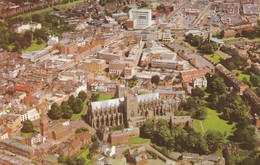Postcard Exeter Devon Aerial View By Airviews Ltd Of Manchester Airport PU 1973 My Ref  B12474 - Exeter