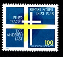 Allemagne Rep.Fed. 1993  Mi.:nr.1693 Geburtstag Birger Forell  Neuf Sans Charniere / Mnh / Postfris - Neufs