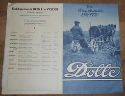 Publicité Faucheuse Dollé - Tracteurs