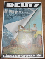 Publicité Tracteur Agricole Deutz 11 CV - Tractors